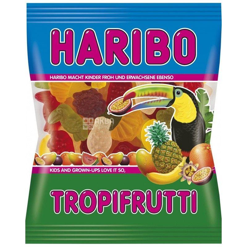 HARIBO, 100 г, жевательные конфеты, Тропические фрукты