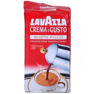 Lavazza, Crema Gusto Ricco, 250 г, Кофе Лавацца, Крема Густо Рикко, темной обжарки, молотый