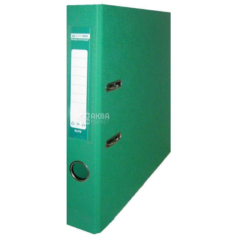 Buromax, 5 см, папка-реєстратор, Зелена, А4, м/у