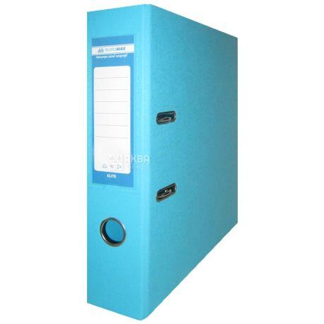 Buromax, 7 см, папка-реєстратор, Двостороння, Блакитна, А4, м/у