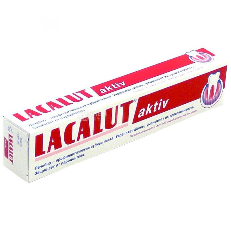 Lacalut, 75 мл, зубная паста, Aktiv