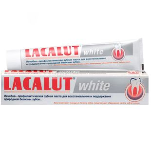 Lacalut, 75мл, Зубна паста, White