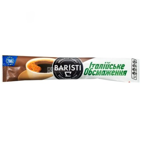 Baristi Italian Roast, Instant coffee in stacks, 25 pcs.