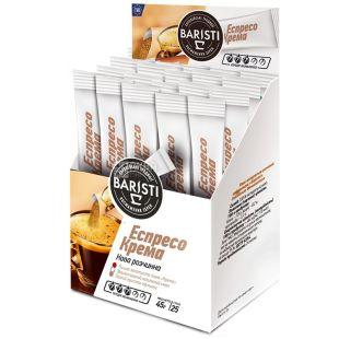 Baristi, 25 шт., кофе, стик, натуральный, растворимый, Эспрессо Крема