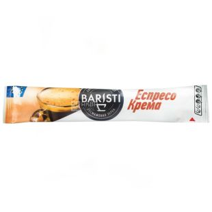 Baristi, 25 шт., кава, стік, натуральна, розчинна, Еспресо Крема