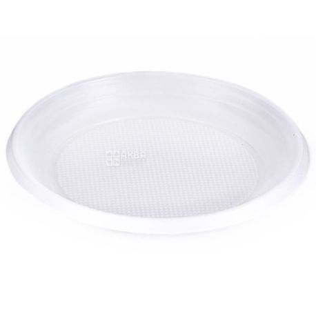 Promtus, Plastic dessert plates, Ø 16 cm, 100 pcs.