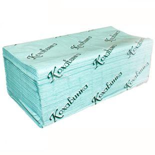 Кохавинка, 170 листов, Бумажные полотенца, однослойные, Z-сложения, 23х25 см