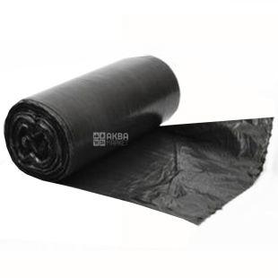 Промтус, 50 шт., 35 л, Пакеты для мусора, без затяжек, прочные, черные
