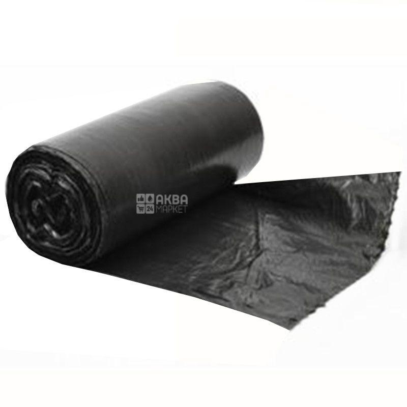 Промтус, 50 шт., 35 л, Пакети для сміття, без затягувань, міцні, чорні