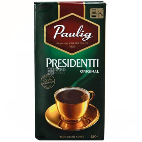 Paulig, 250 г, молотый кофе, Presidentti Original, м/у