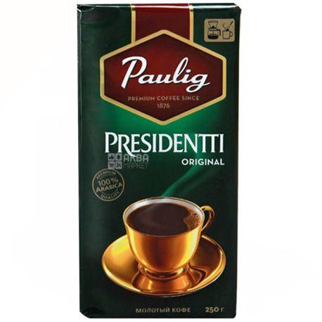 Paulig Presidentti Original, 250 г, Кава Пауліг Президент Оріджінал, середнього обсмаження, мелена
