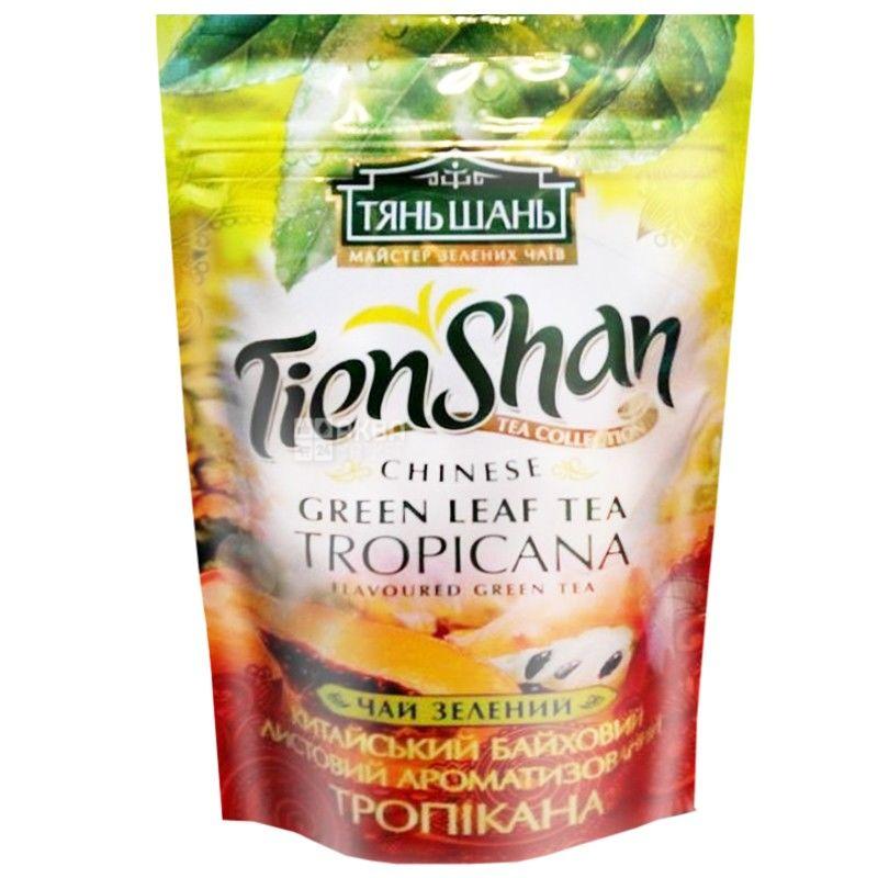 Тянь-Шань, Tropicana, 80 г, Чай Тропікана, зелений з ароматом тропічних фруктів