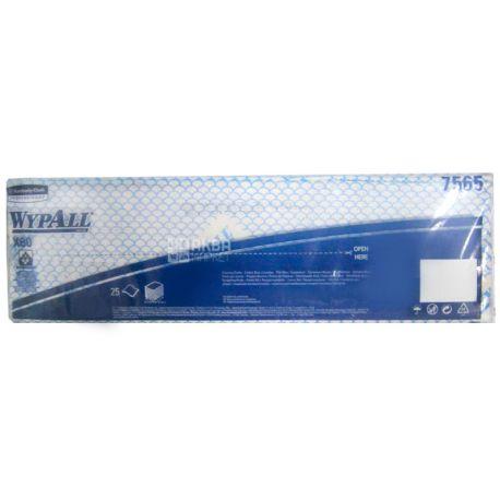 WypAll, 25 шт., Серветки для протирання ВайпОлл, 34.5х41.5 см, сині