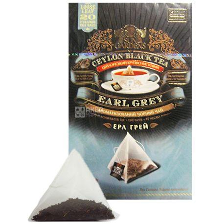 Sun Gardens, 20 шт., чай, черный, Earl Grey, Pyramid Collection
