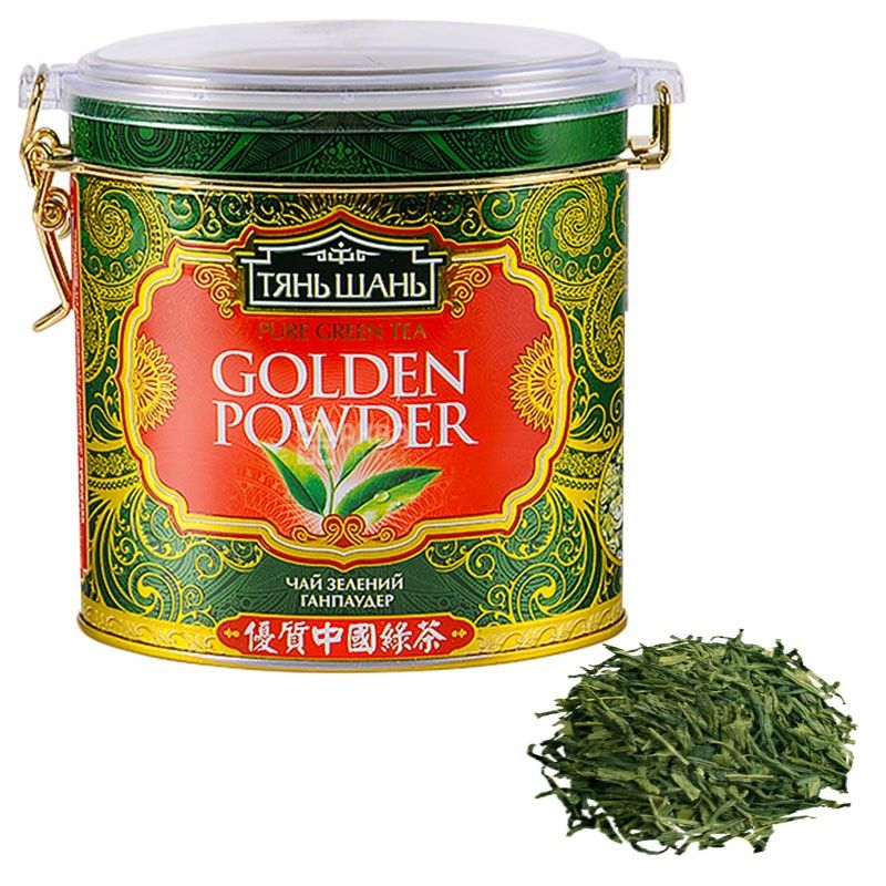 Тянь Шань, 100 г, Чай зеленый, Гандпаудер, ж/б