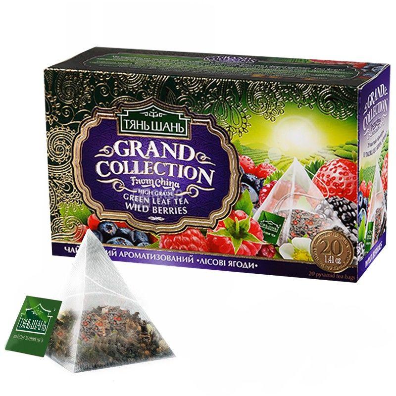 Тянь Шань, Wild berries, 20 пак., Чай Лесные ягоды, зеленый