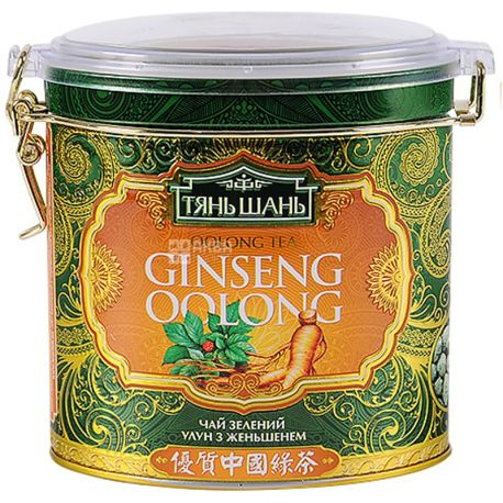 Tian Shan, 170 g, tea, green, Ginseng Oolong, iron can
