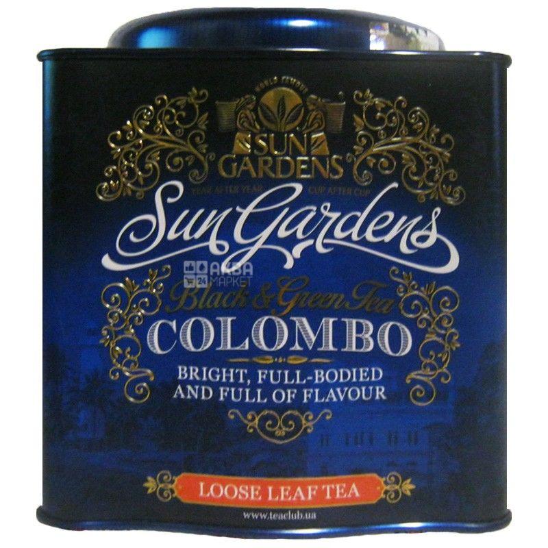 Sun Gardens, 200 г, чай, черный, Colombo Mix, железная банка