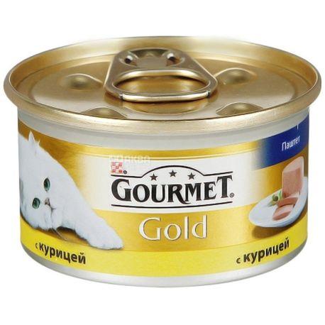 Gourmet, 85 г, корм для котов, с курицей, Gold