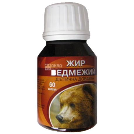Ekosvit Oil, 60 capsules, fat, bear