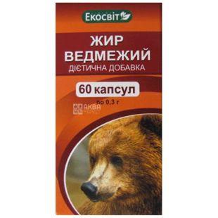 Экосвит Ойл, 60 капсул, жир, медвежий
