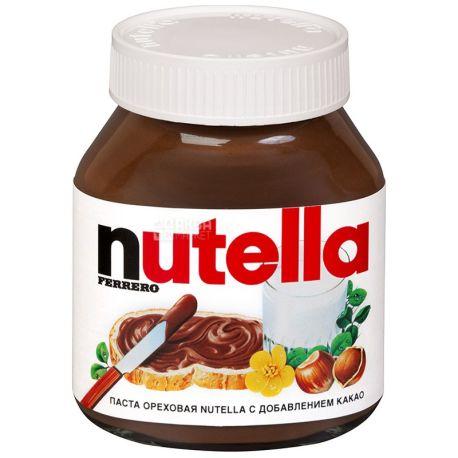 Nutella, 180 г, паста ореховая, с какао