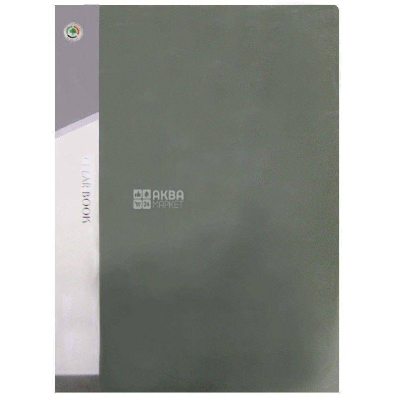 Clear Book, Папка на 20 файлів, А4, асорті