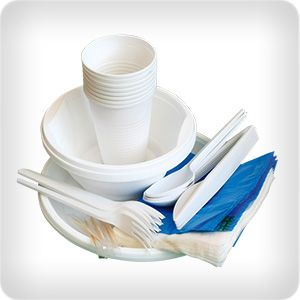 Disposable dishes, cups